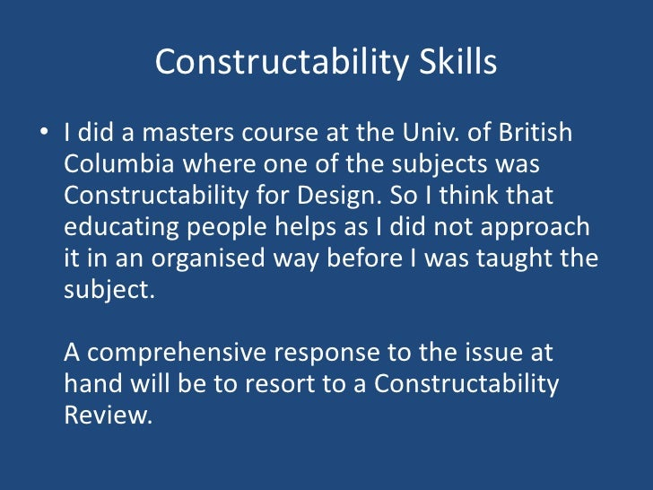 how to do a constructability review