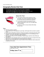 grade 9 geography exam review